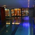 piscine illuminée
