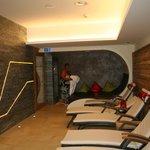 salle de repos au sauna