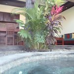 View from pool of lounge/kitchen