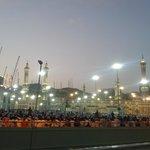 Mekkah, Al Haram de l'extérieur le jour de Aid Al Fitr. Les pèlerins en attente du lever du jour
