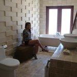 Lovely Bathroom. No door, though.