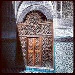 la porta di ingresso alla corte interna
