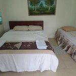 The bedroom of bungalow 2