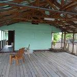 Large but basic verandah on bungalow 2