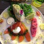 trilogie de saumon avec parmentier original