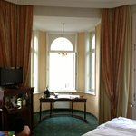 Alcove in our corner room, lovely high windows on either side as well