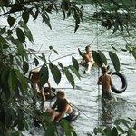 spelen in rivier