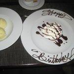 Pineapple Sorbet and Cake