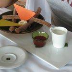 Churros con Chocolate blanco
