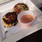 AMAZING crab cakes (appetizer portion)