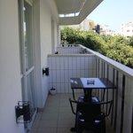 I terrazzi delle singole stanze