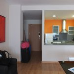 Main door of the apartment and the Kitchen!