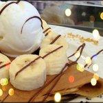Crepe with Nutella ice cream Cream & fresh Banana
