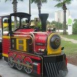 Kids will love the little train