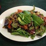 Organic quinoa & black bean salad w/ avocado