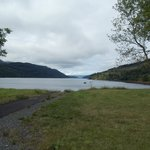 view of Loch Long from hotel