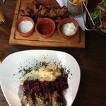 mixed grill and lamb main courses