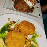 Crab Cakes and Their HUGE Potato