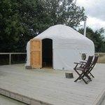 yurt on its decking