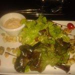 Salade de la mer entrée du menu