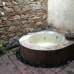 Hot tub outside our room