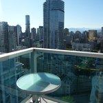 Kleiner Balkon im 30. Stock