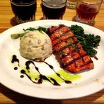 One of the best salmon and smashed potatoes and chinese brocoli dishes