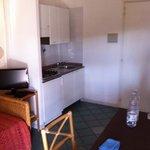 cucina soggiorno con terzo letto