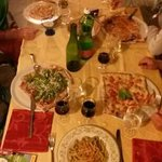 Our table with food