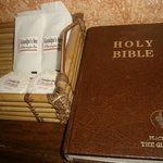 complimentary toiletries and bible