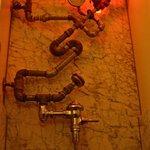 Men's room with turbo flush