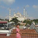 вид с террасы голубая мечеть