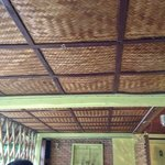 the bamboo ceiling of the restaurant