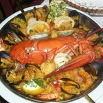 seafood paella at the Copas