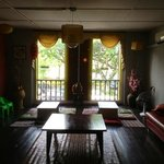 the sitting area over looking the river Sarawak