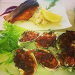 Salmon & killpatrick oysters ��