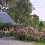 Flower garden outside the Barn