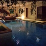 evening over pool