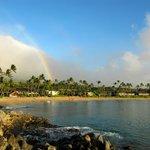 Rainbow over Napili Beach