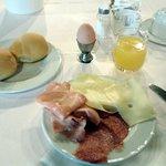 Particolare di una colazione leggera