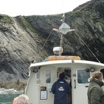 Ramsey island and the boat