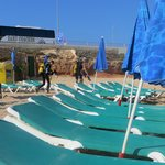 Beach beds and brollies - all included free