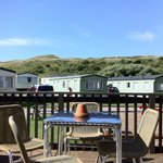 View of Caravans from Clubhouse decking
