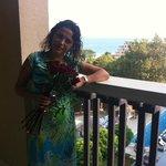 На балконе в День Рождения
