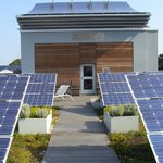 """The """"Solar Garden"""" (Green Roof + Solar Panels-can be accessed with your room key-AWESOME"""