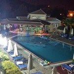 Petros pool area at night