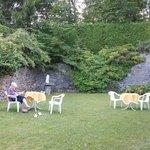 Le jardin de l'hôtel Bergland