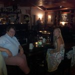 My friends enjoy a great meal at essZimmer