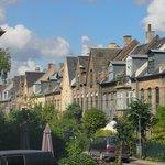 Il panorama del tipico quartiere Danese visibile da dentro il locale