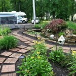 Entry frog pond - nice job landscaping Jim !
